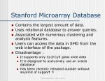 stanford microarray database
