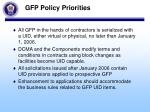 gfp policy priorities