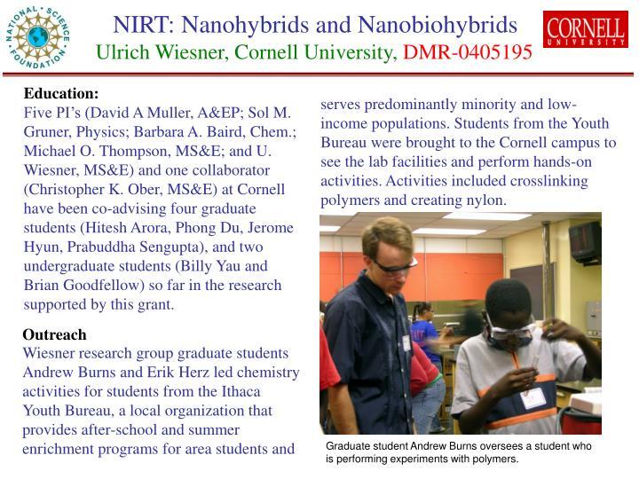 NIRT: Nanohybrids and Nanobiohybrids