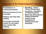 purposes of the redevelopment district