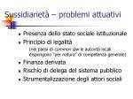 sussidiariet problemi attuativi