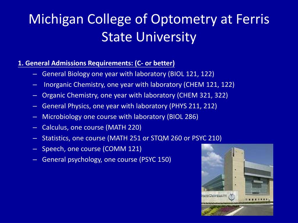 Michigan College of Optometry at Ferris State University