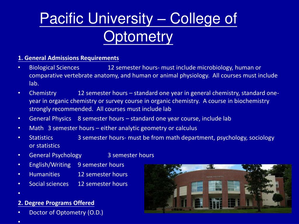 Pacific University – College of Optometry