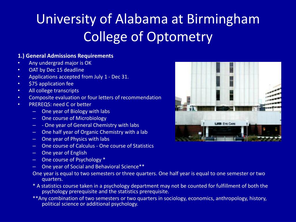 University of Alabama at Birmingham College of Optometry