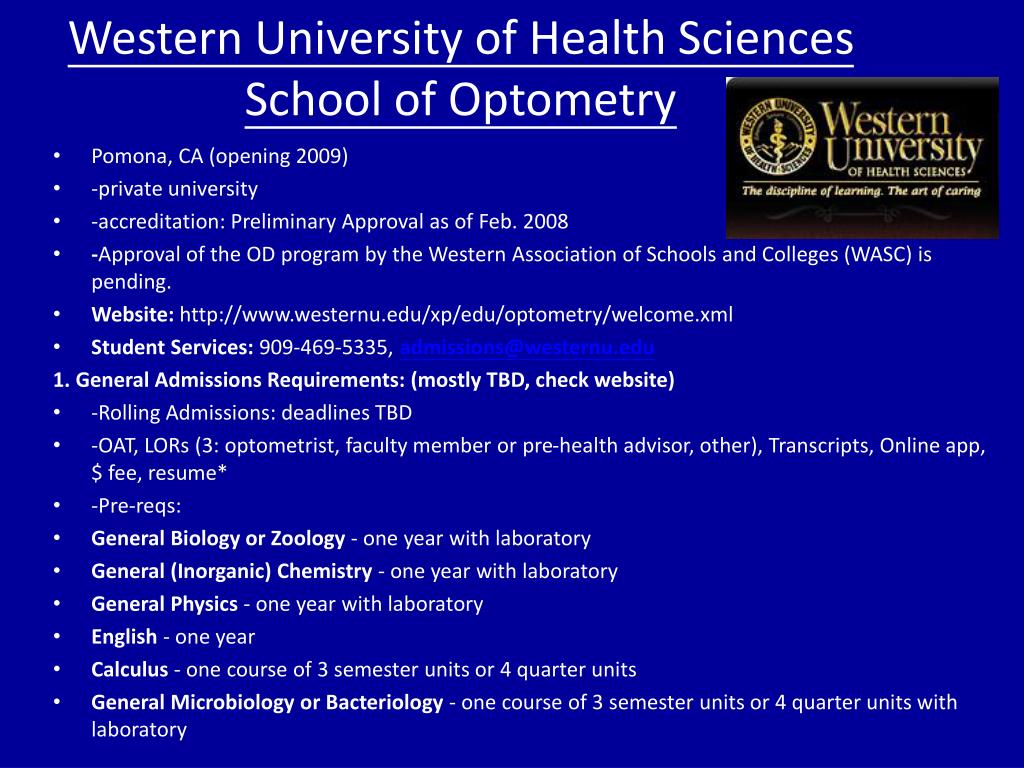 Western University of Health Sciences School of Optometry