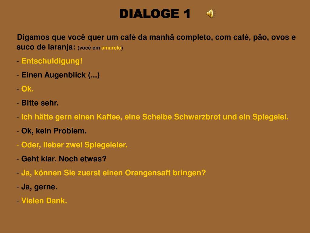 DIALOGE 1
