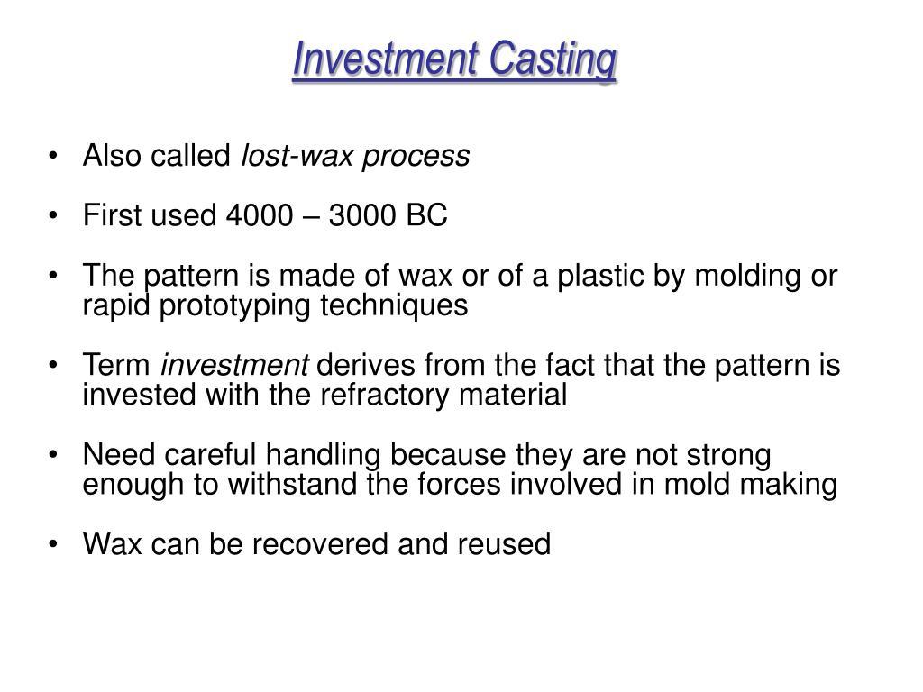 investmnet casting