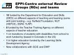 eppi centre external review groups rgs and teams