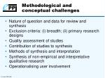methodological and conceptual challenges