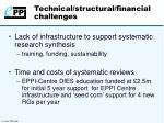 technical structural financial challenges