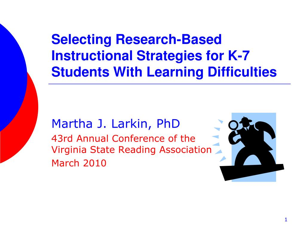 selecting research based instructional strategies for k 7 students with learning difficulties