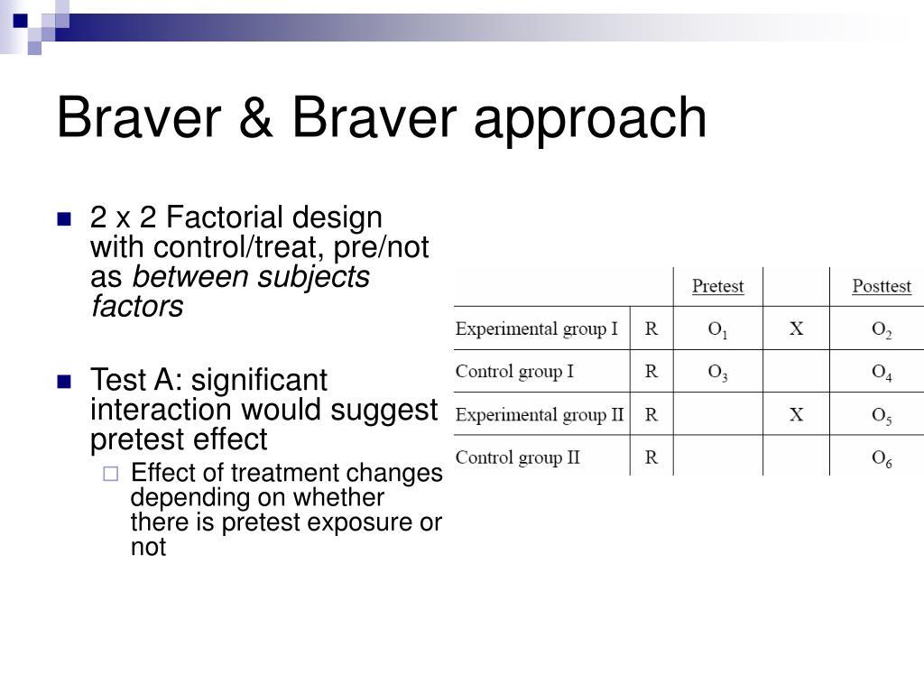 Braver & Braver approach
