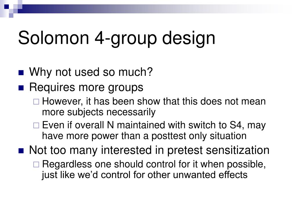 Solomon 4-group design