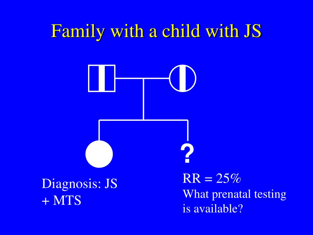 Family with a child with JS