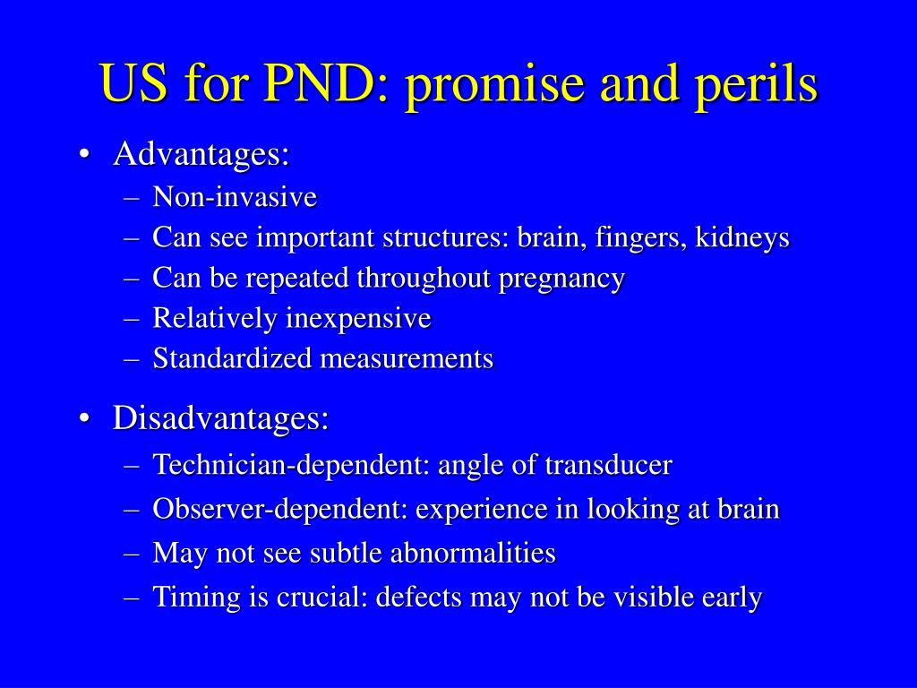 US for PND: promise and perils