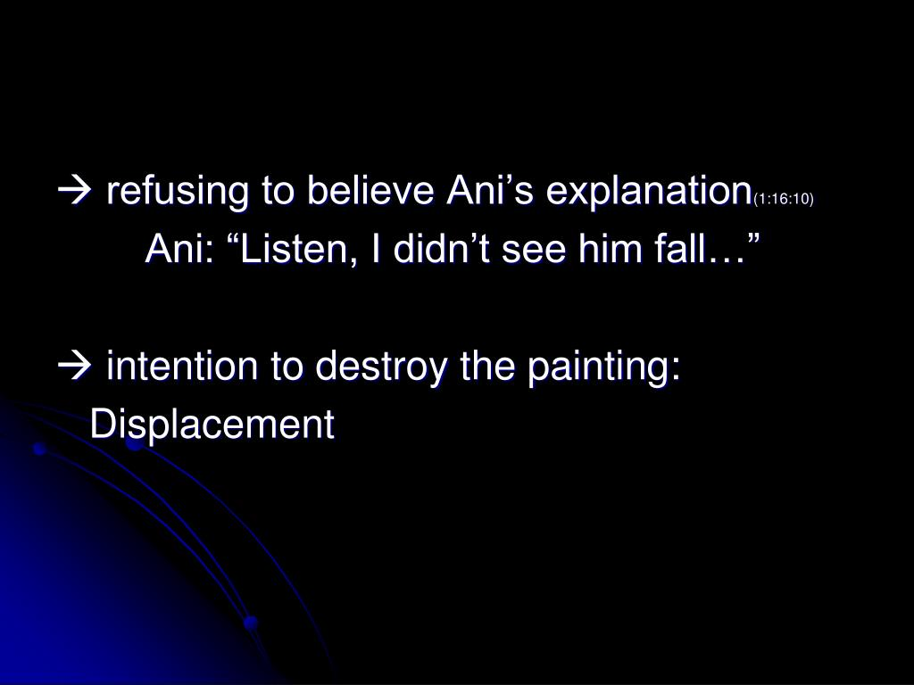  refusing to believe Ani's explanation