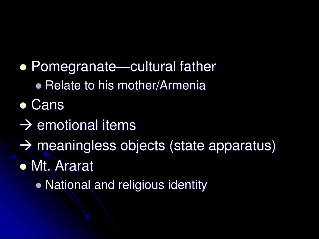 Pomegranate—cultural father
