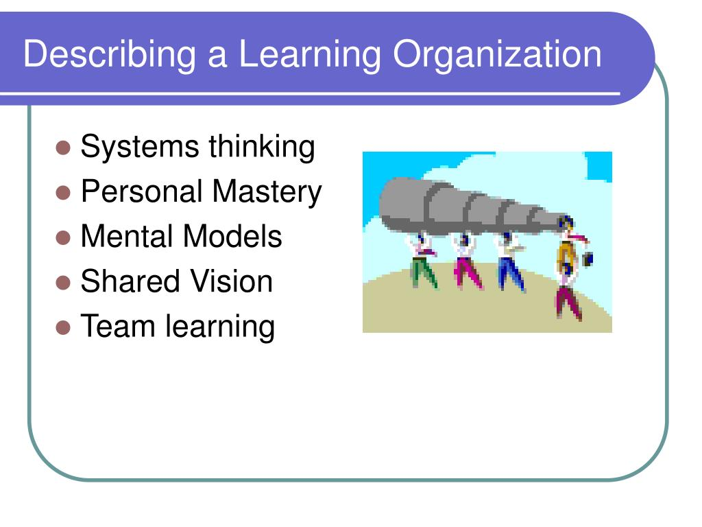 Describing a Learning Organization