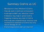summary crohns vs uc