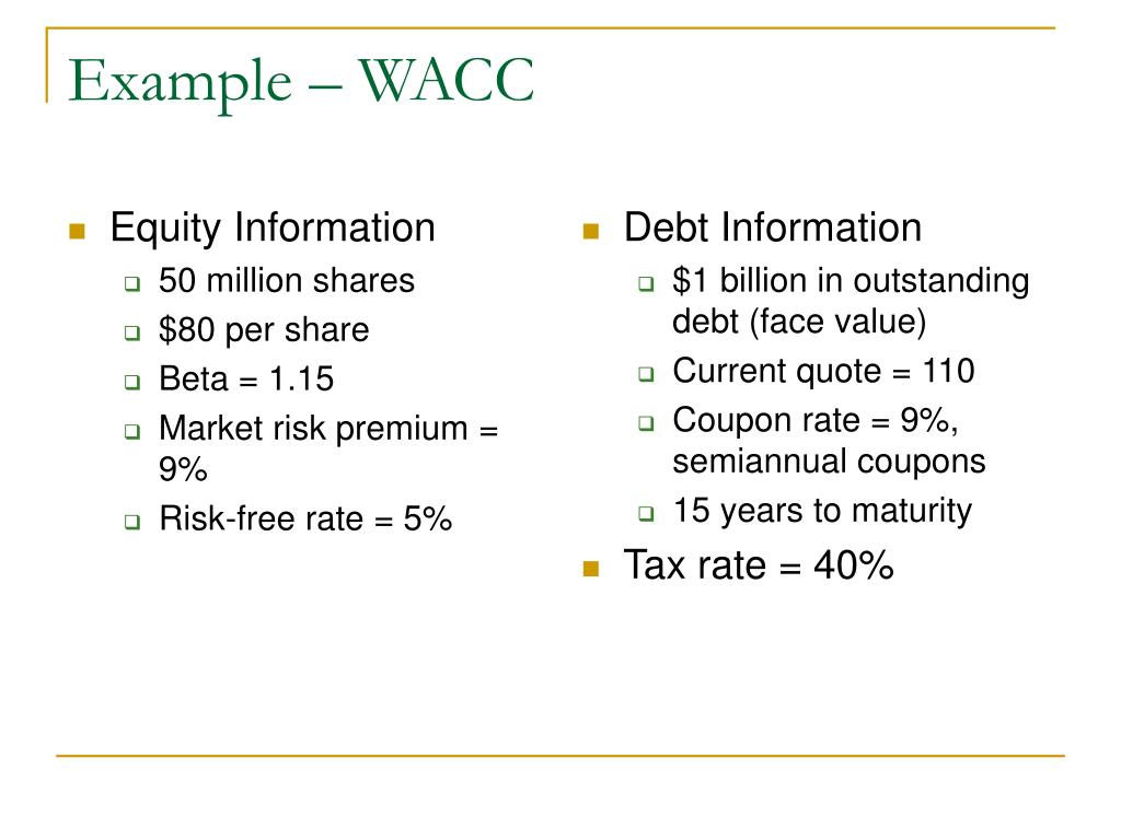 Equity Information