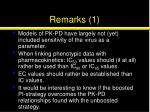 remarks 1