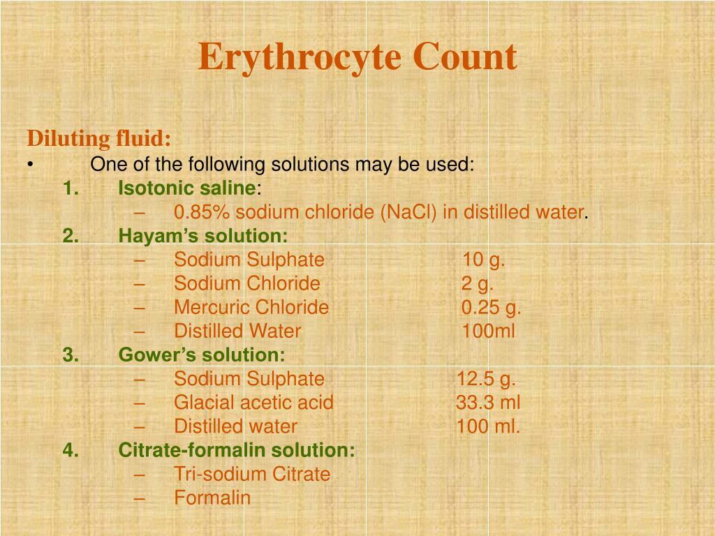 Erythrocyte Count