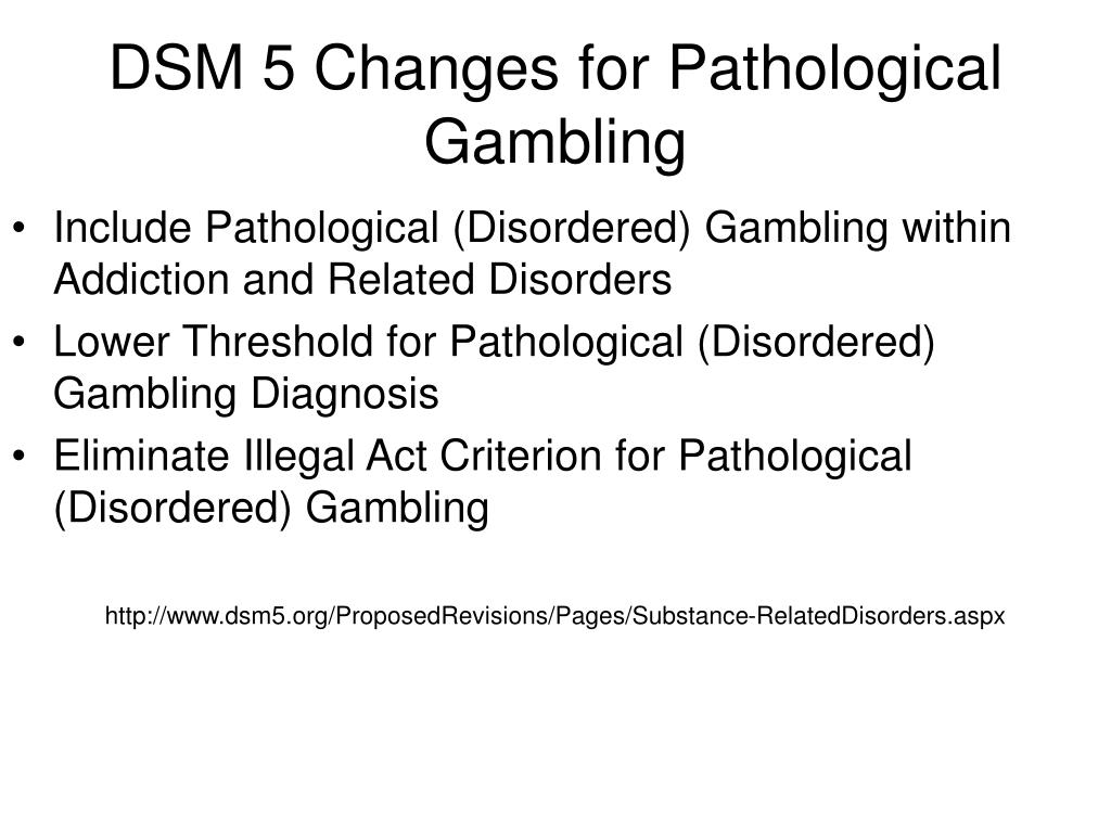 a research on the issue of the psychological condition of pathological gambling It will help raise awareness of the issues associated with problem gambling and other conditions in pathological database research on gambling.