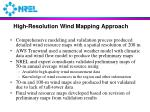 high resolution wind mapping approach