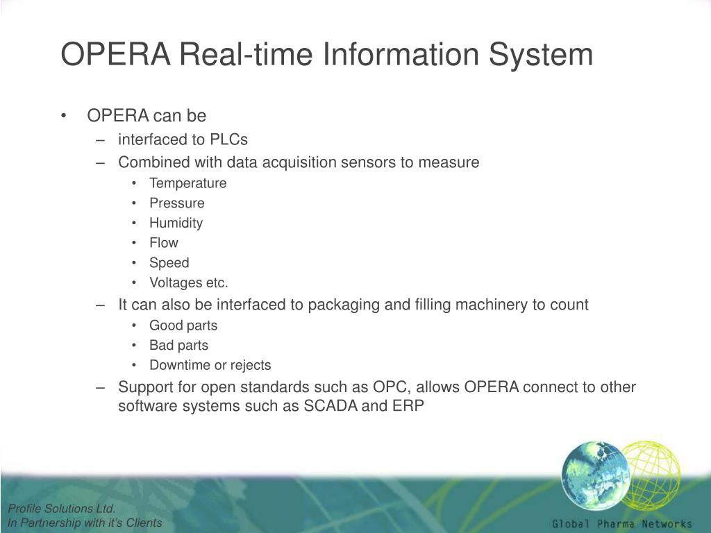 OPERA Real-time Information System