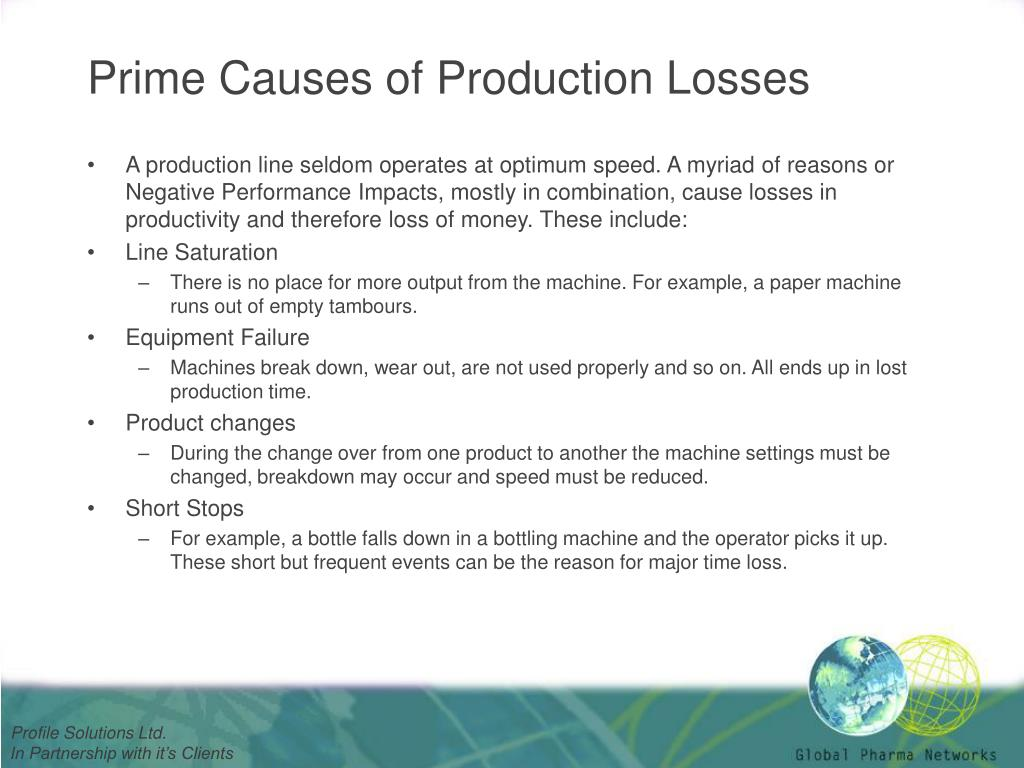 Prime Causes of Production Losses