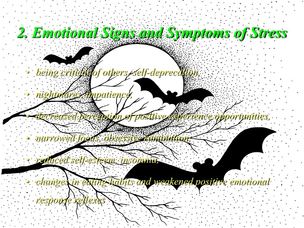 2. Emotional Signs and Symptoms of Stress