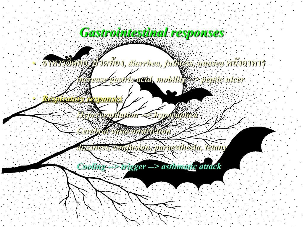 Gastrointestinal responses