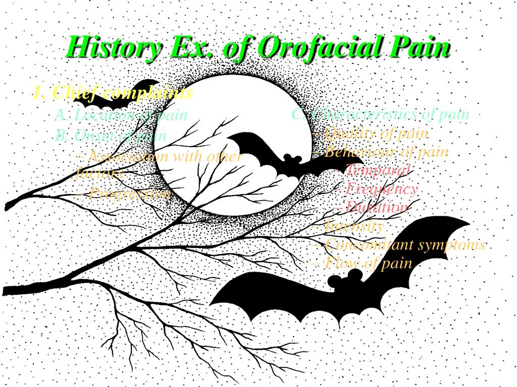 History Ex. of Orofacial Pain