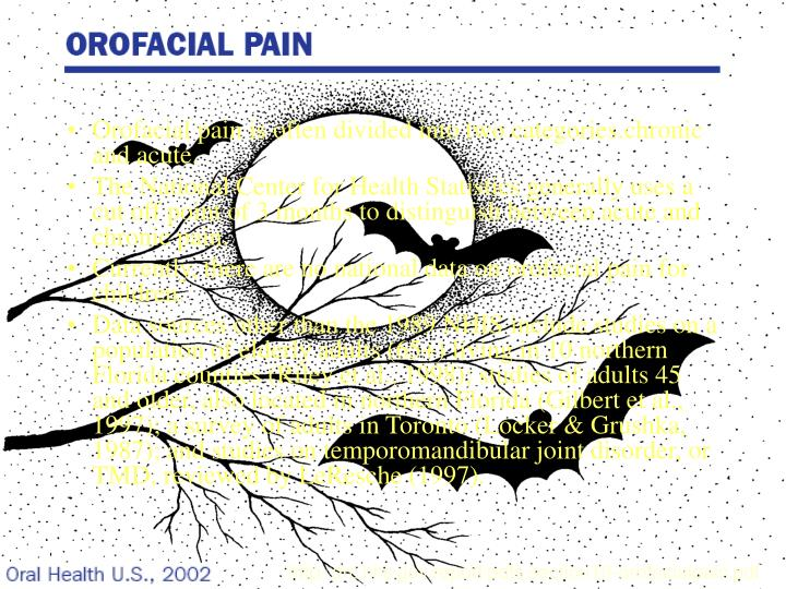 Orofacial pain is often divided into two categories.chronic and acute.