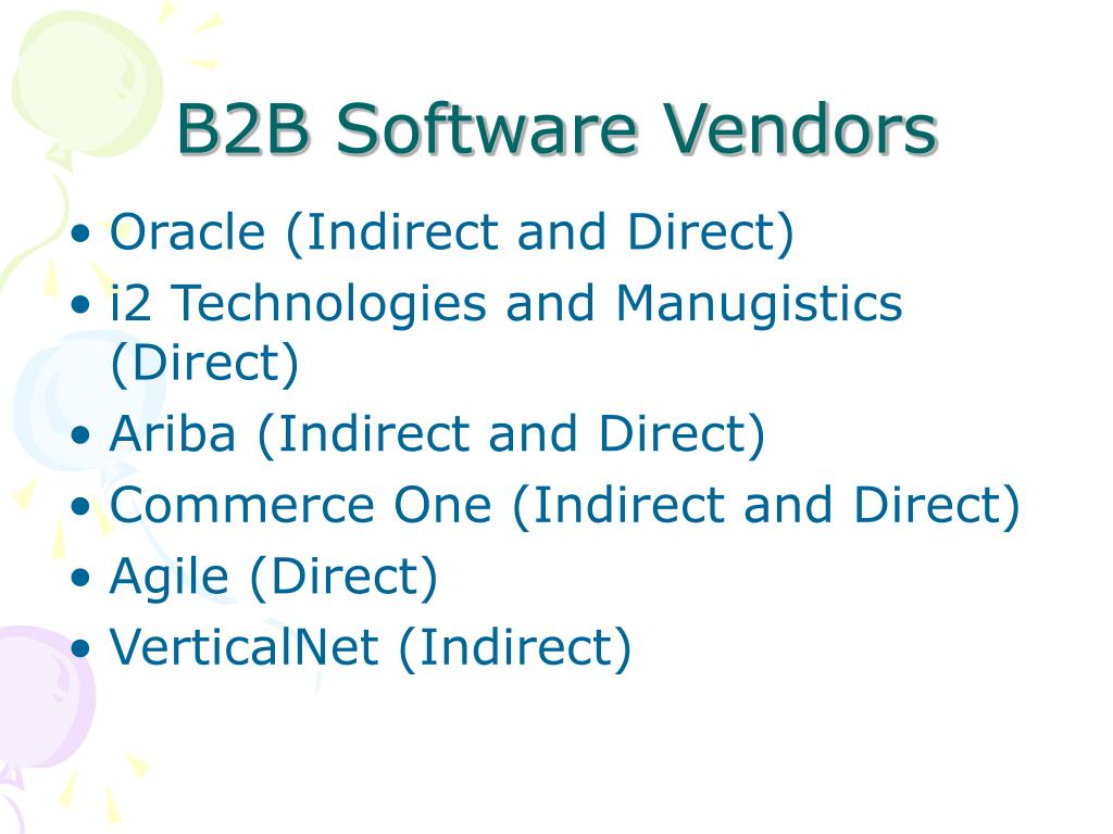B2B Software Vendors