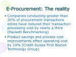 e procurement the reality