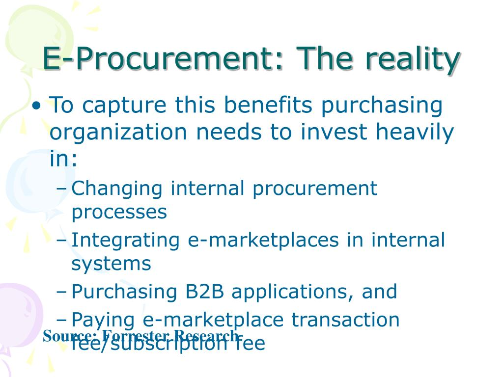E-Procurement: The reality