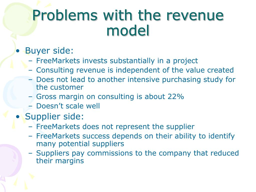 Problems with the revenue model