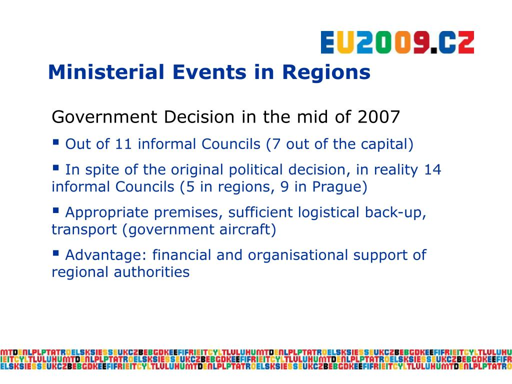 Ministerial Events in Regions