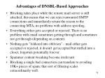 advantages of dnsbl based approaches