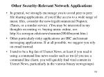 other security relevant network applications