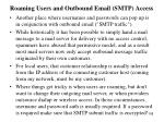 roaming users and outbound email smtp access