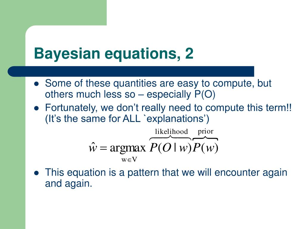 Bayesian equations, 2