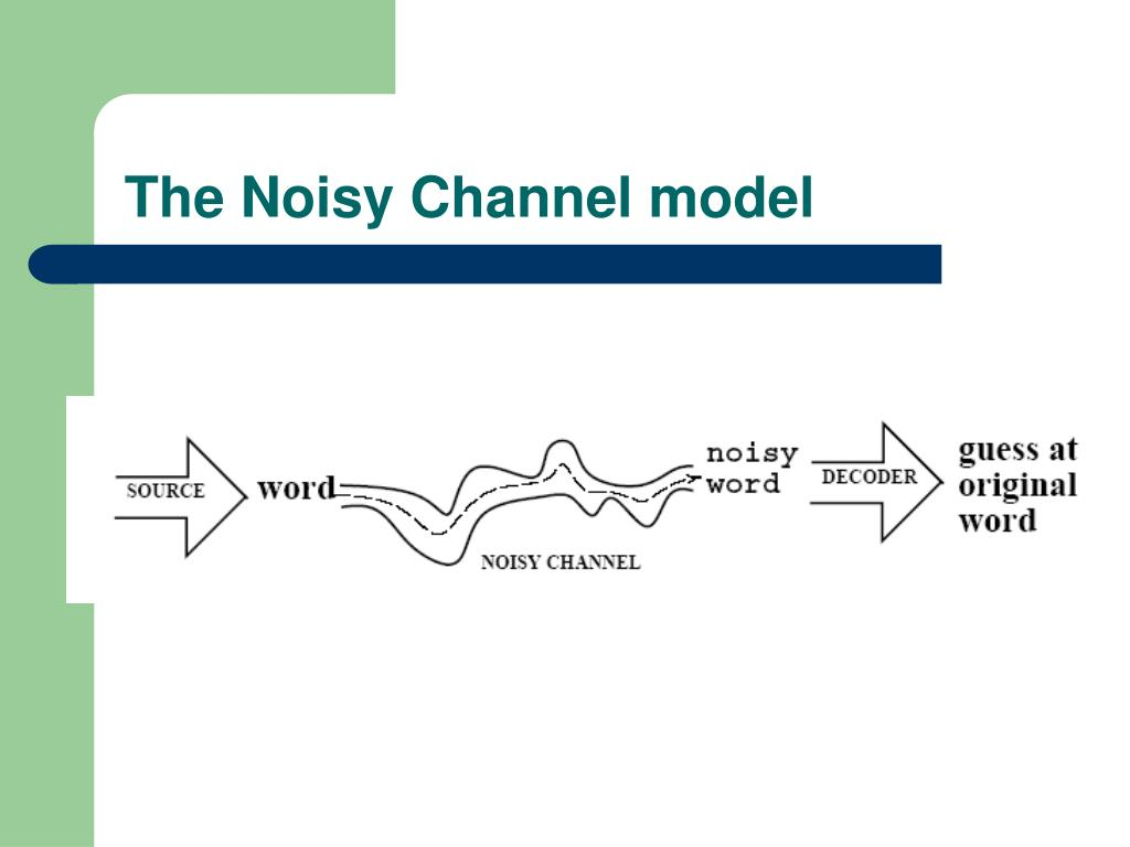 The Noisy Channel model