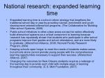 national research expanded learning time
