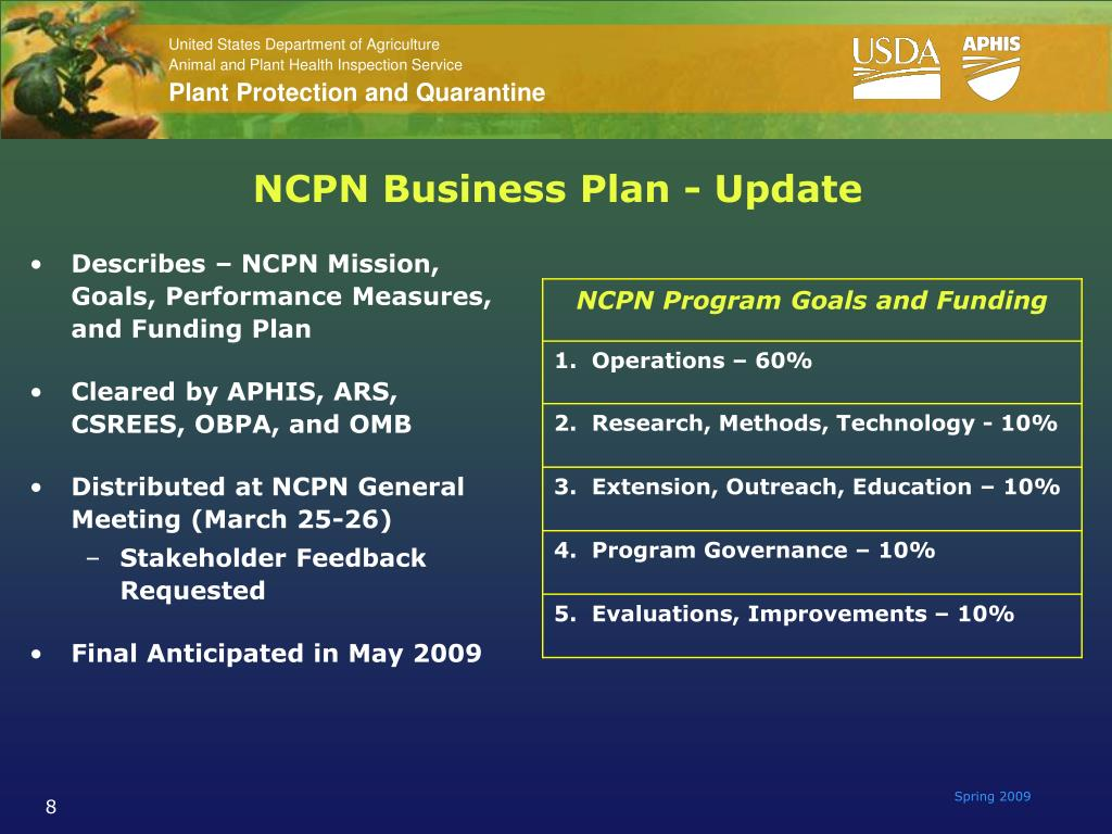 NCPN Business Plan - Update
