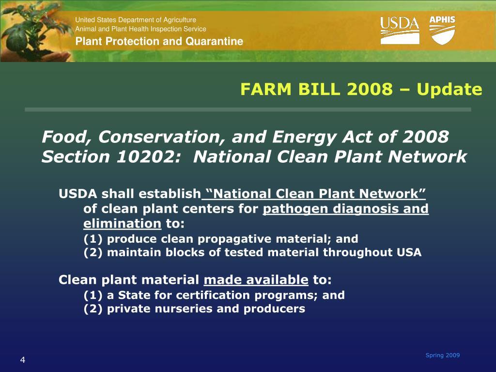 FARM BILL 2008 – Update