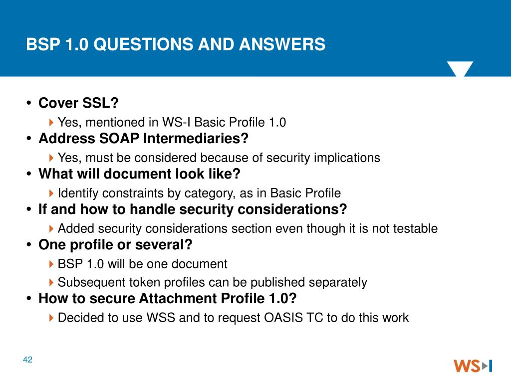 BSP 1.0 QUESTIONS AND ANSWERS