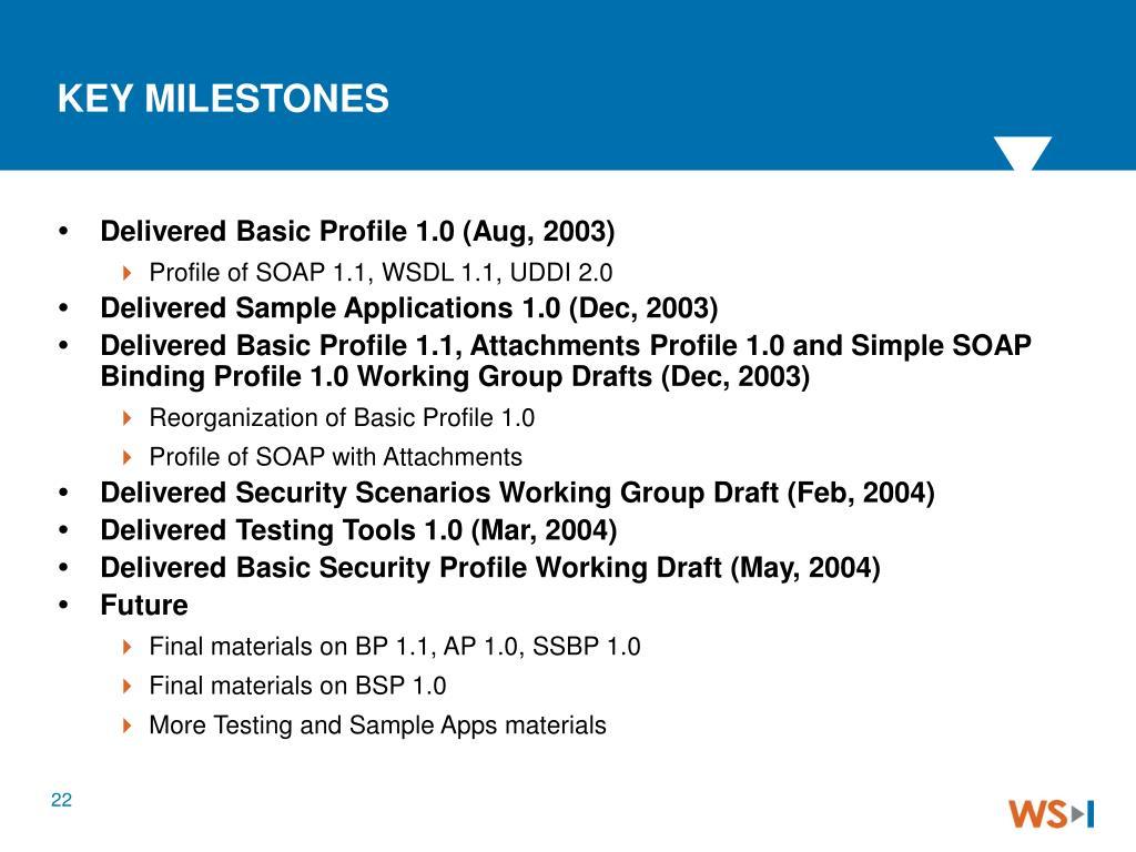 Delivered Basic Profile 1.0 (Aug, 2003)