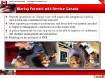moving forward with service canada